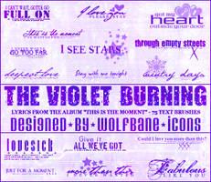 Violet Burning Text Brushes by jordannamorgan