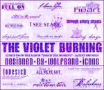 Violet Burning Text Brushes