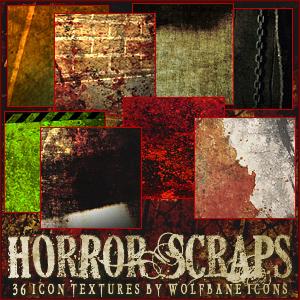 Horrorscraps Icon Textures by jordannamorgan