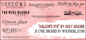 Hallow's Eve Lyrics Brushes by jordannamorgan