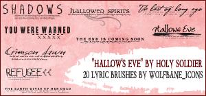 Hallow's Eve Lyrics Brushes by jordannamorgan