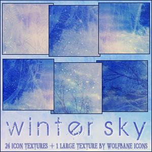 Winter Sky Texture Set by jordannamorgan