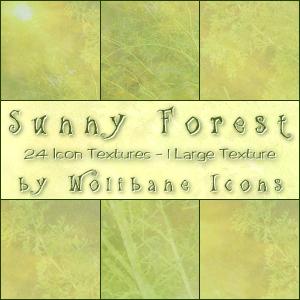 Sunny Forest Texture Set by jordannamorgan