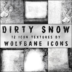 Dirty Snow Icon Textures by jordannamorgan