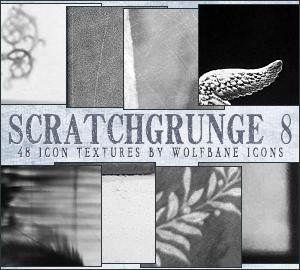 ScratchGrunge 8 Icon Textures by jordannamorgan