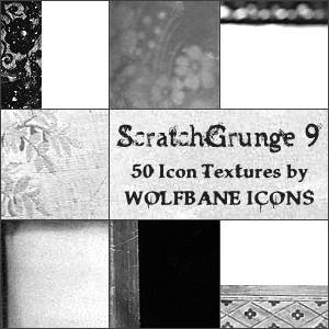 ScratchGrunge 9 Icon Textures by jordannamorgan
