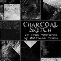 Charcoal Sketch Icon Textures