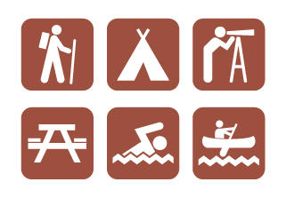 Vector Campground Icons by ZombiePoppa