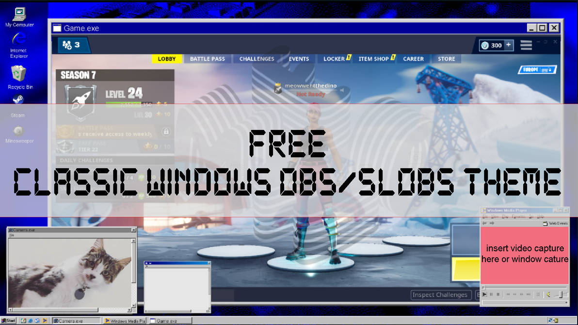 FREE!! WINDOWS 95/98 Style TWITCH overlay! by the-broken-0ne on