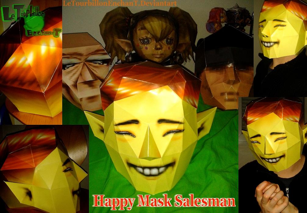 Zelda MM -HappyMaskSalesman Mask- LTE-T Papercraft by LeTourbillonEnchanT