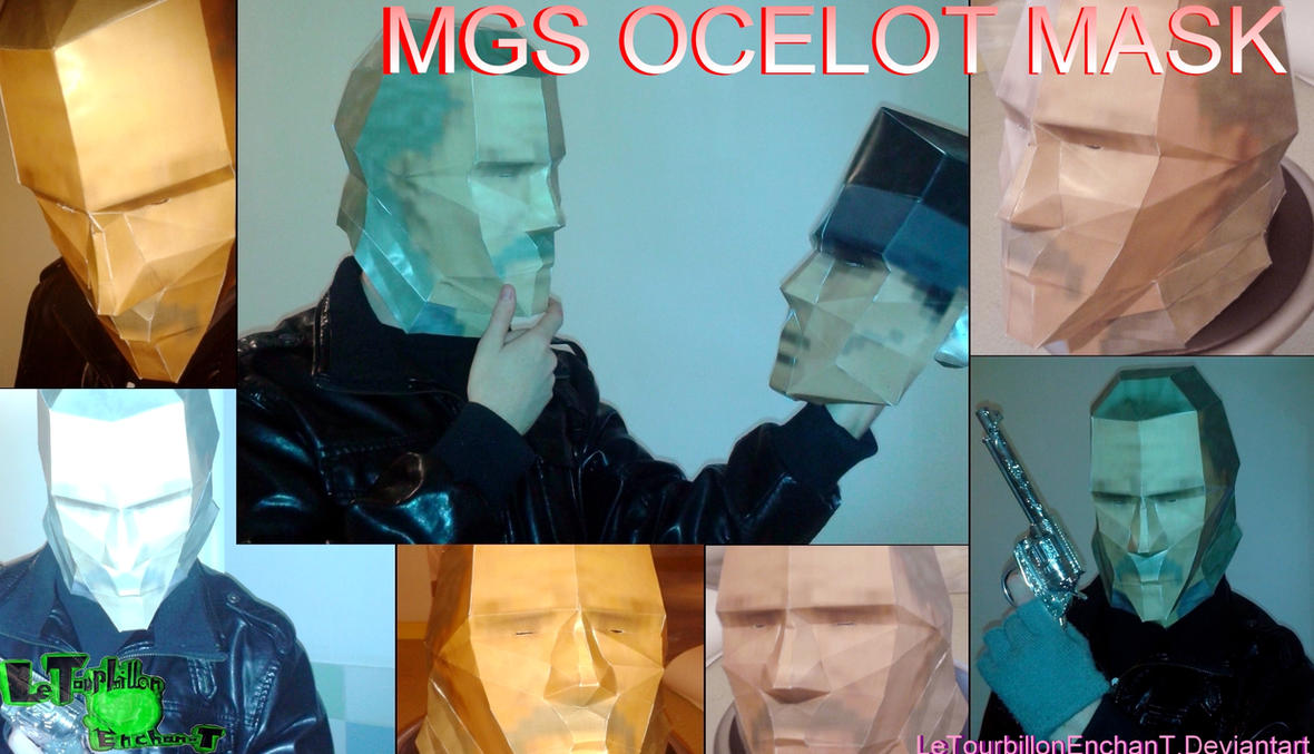 Metal Gear Solid - Ocelot Mask - LTE-T Papercraft by LeTourbillonEnchanT