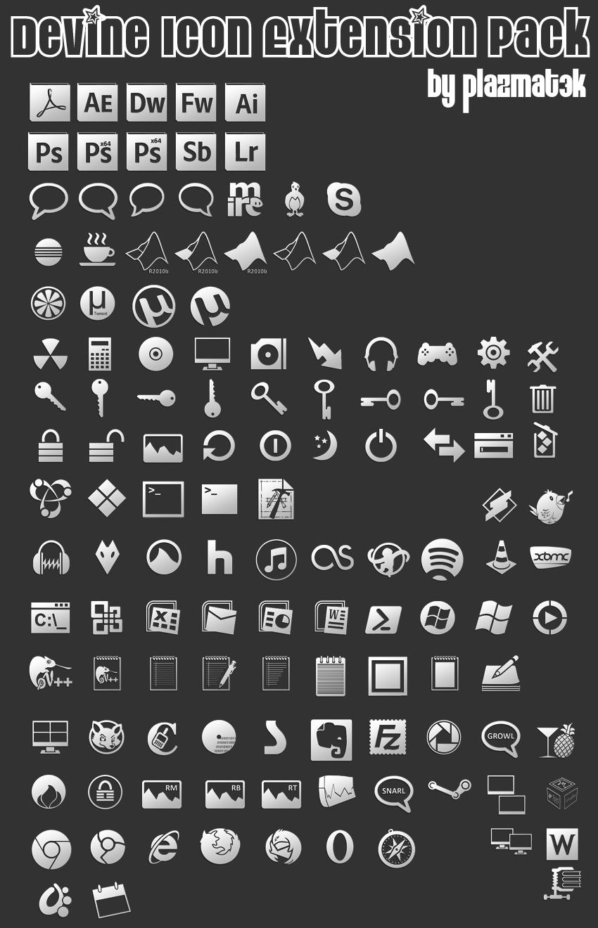 Devine Icon Extension Pack 1 by plazmat3k