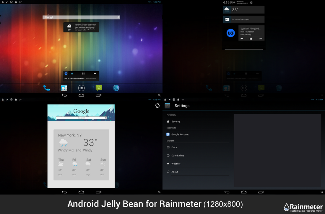 Android Jelly Bean for Rainmeter Small (1280x800) by CodyMacri