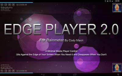 Edge Player 2.0 for Rainmeter by CodyMacri