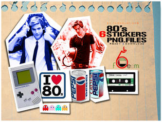 80s Stickers PNG