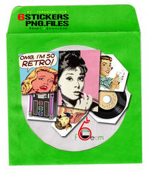 RETRO Stickers PNG