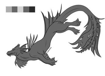 F2U - water dragon species by EatenRibs