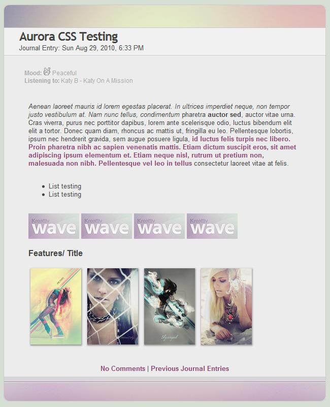 Aurora CSS by Infinite705