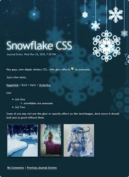 Snowflake CSS