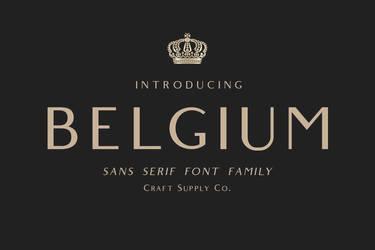 Belgium by fontsrepo