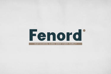 Fenord by fontsrepo