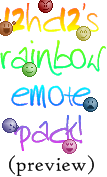 Rainbow Emote Pack by 12hc12