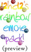 Rainbow Emote Pack by 12hc12