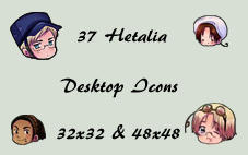 Hetalia Desktop Icons by begger4mcgregor