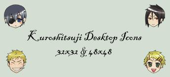 Kuroshitsuji Desktop Icons by begger4mcgregor