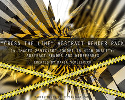 Cross the line abstract render pack by MariaSemelevich