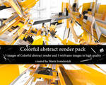 Colorful abstract render pack