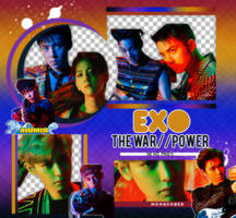EXO// THE WAR (THE POWER OF MUSIC)-PNGPACK by MoonSober