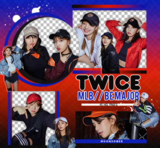 TWICE//MLB(BE MAJOR)-PNGPACK#4 by MoonSober
