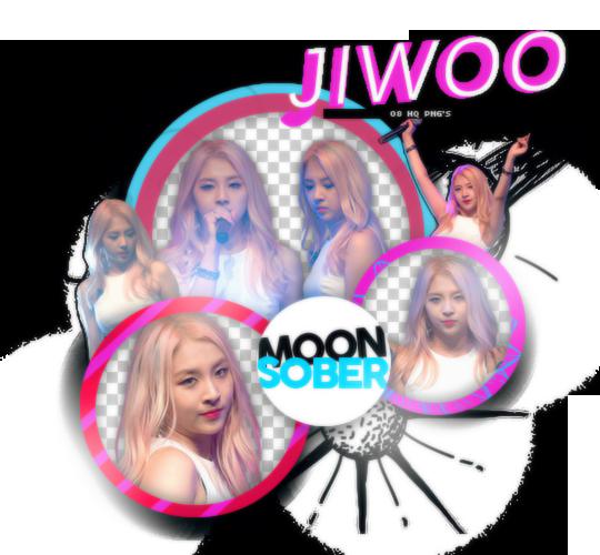 JIWOO//KARD-PNGPACK#1 by MoonSober
