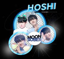 HOSHI//SEVENTEEN-PNGPACK#1 by MoonSober