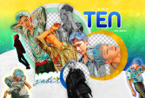 TEN (NEW HEROES)-PNGPACK# 1 by MoonSober