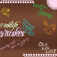 Pinklife brushes by kittymoon23