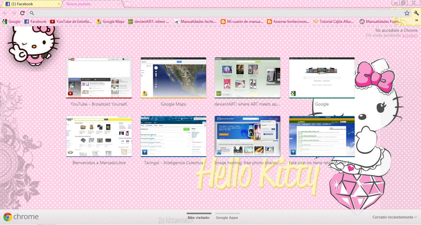 Google themes chrome - Landern 9 5 Hello Kitty Google Chrome Theme By Kittymoon23