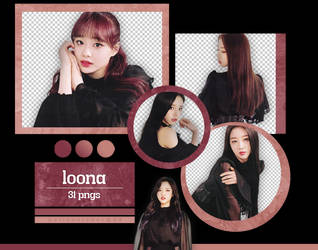 LOONA - [X X] Album Scans (Ver. A) {png} by pollovolador