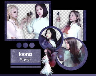 LOONA - [X X] Album Scans (Ver. B) {png} by pollovolador