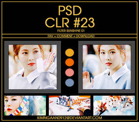 PSD CLR #23 | SUNSHINE 01 by KimNgaan0912