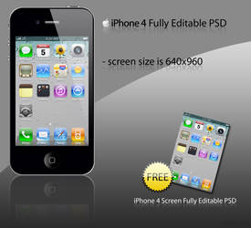 iPhone 4 PSD Pack