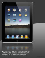 iPad 2 Black .PSD File by ruky1024