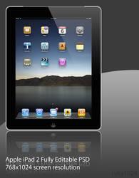 iPad 2 Black .PSD File