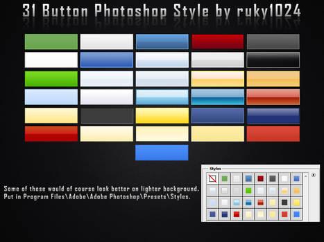 31 Button Photoshop Styles