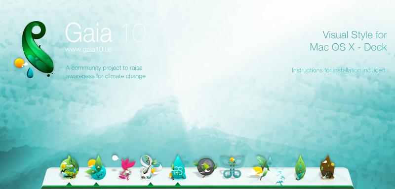 Mac OS X Gaia 10 Dock by DoctorPimp