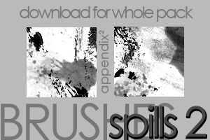 Brushes - Spills 2 by Pinkly-Icons