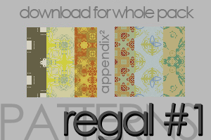 Patterns - Regal Set 1 by Pinkly-Icons
