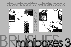 Brushes - Miniboxes 3 by Pinkly-Icons