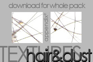 Textures - Hair and Dust by Pinkly-Icons
